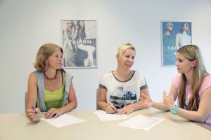Starkes Team für eine gute Ausbildung: (v.l.) Christina Müller-Mathiak, Nicola Höltkemeier und Lisa-Marie Mengedoth tauschen sich regelmäßig aus.
